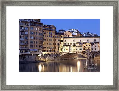 Vecchio Bridge Framed Print by Andre Goncalves