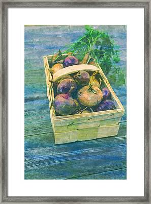 Vegetables Harvest Cultivation  Framed Print