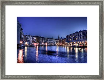 Venice By Night Framed Print by Andrea Barbieri