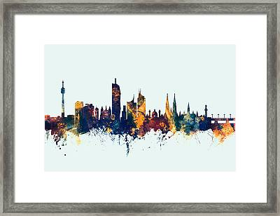 Vienna Austria Skyline Framed Print by Michael Tompsett