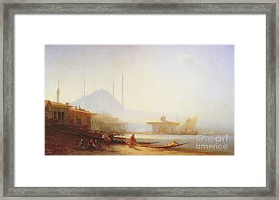 View Of Istanbul Framed Print by Felix Ziem