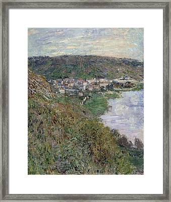 View Of Vetheuil Framed Print by Claude Monet