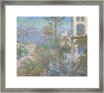 Villas At Bordighera Framed Print by Claude Monet