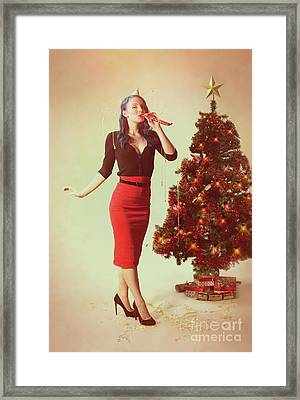 Vintage Pin Up Series Framed Print