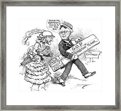 Vintage Political Prohibitioncartoon Framed Print by Vintage Pix