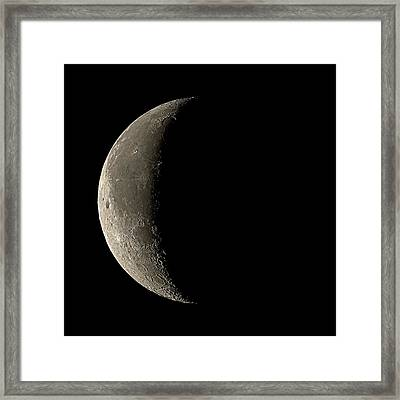 Waning Crescent Moon Framed Print