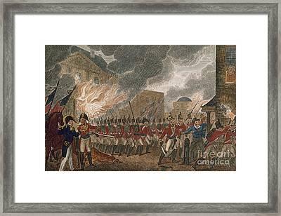 Washington Burning, 1814 Framed Print by Granger