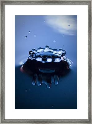 Water Droplet Crown Framed Print