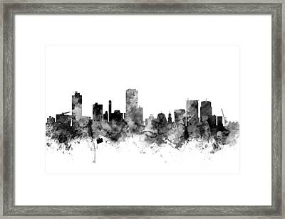 Wellington New Zealand Skyline Framed Print