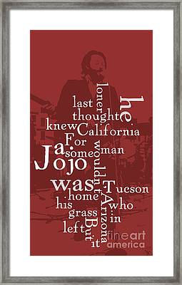 What Is The Name Of The Song? Funny Poster And Game For Music Lovers Framed Print