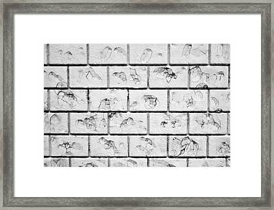 White Brick Wall Framed Print