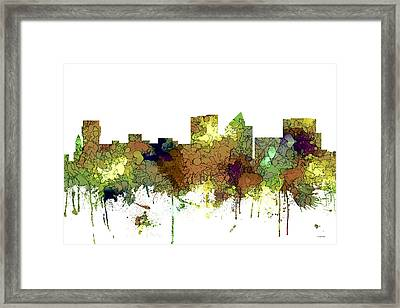 Wichita Kansas Skyline Framed Print