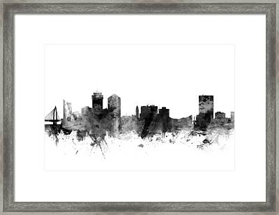 Wichita Kansas Skyline Framed Print