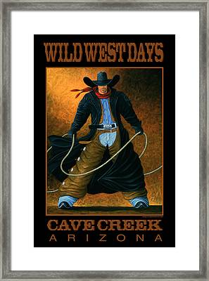 Wild West Days Poster/print  Framed Print by Lance Headlee