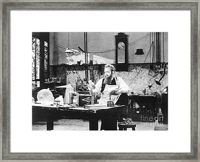 Wilhelm Roentgen, German Physicist Framed Print