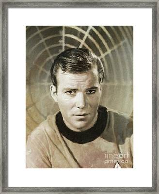 William Shatner Star Trek's Captain Kirk Framed Print by Mary Bassett