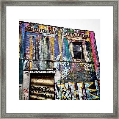 Williamsburg Graffiti Framed Print