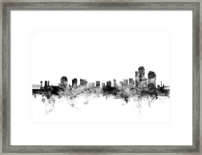 Wilmington Delaware Skyline Framed Print by Michael Tompsett