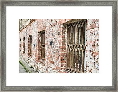 Window Bars Framed Print