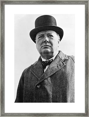 Winston Churchill Framed Print by English School