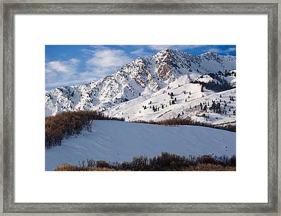Winter In The Wasatch Mountains Of Northern Utah Framed Print
