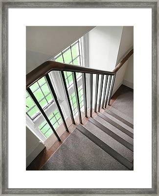 Wooden Bannister Framed Print by Tom Gowanlock