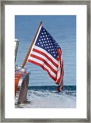 Yacht Ensign Framed Print by Steven Lapkin