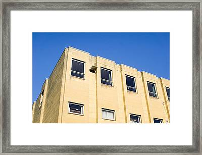 Yellow Building Framed Print by Tom Gowanlock
