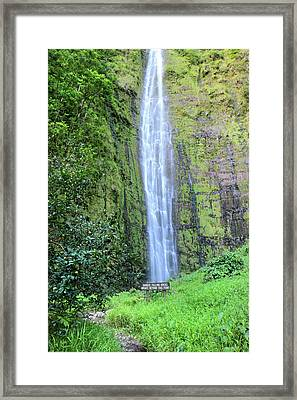 400 Foot Waimoku Falls Maui Framed Print by Pierre Leclerc Photography