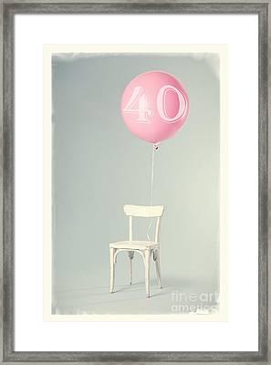 40th Birthday Framed Print by Edward Fielding