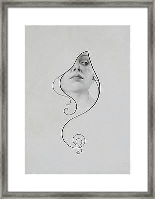 413 Framed Print