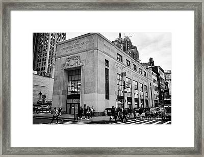 415 Broadway First National City Bank Of New York City Usa Framed Print
