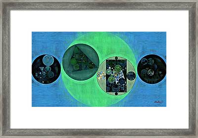 Abstract Painting - Dark Jungle Green Framed Print