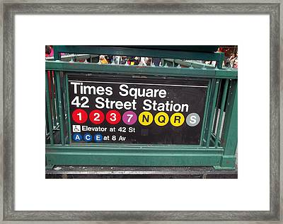42 Street Station Nyc Framed Print by Brianna Thompson