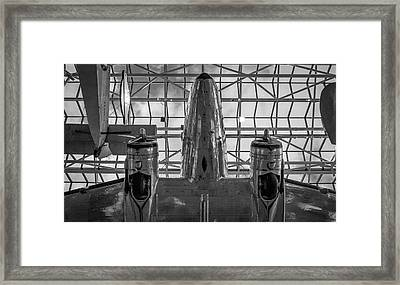 4242- Air And Space Museum Black And White Framed Print by David Lange