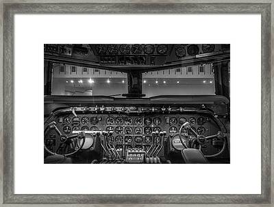 4245- Air And Space Museum Black And White Framed Print by David Lange