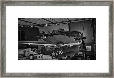 4254- Air And Space Museum Black And White Framed Print by David Lange