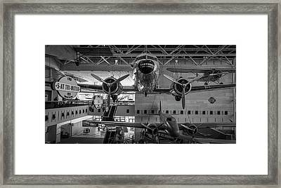 4267- Air And Space Museum Black And White Framed Print by David Lange