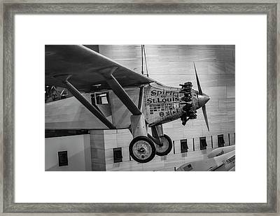 4273- Air And Space Museum Black And White Framed Print by David Lange