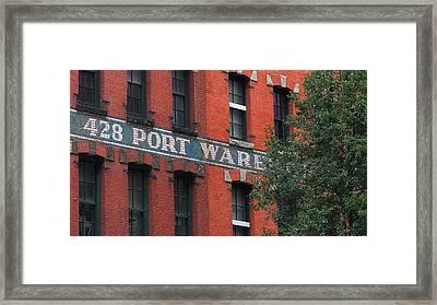 428 Port Warehouse Framed Print