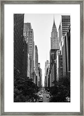 42nd St View Framed Print