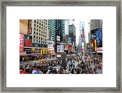 42nd Street In New York City Framed Print