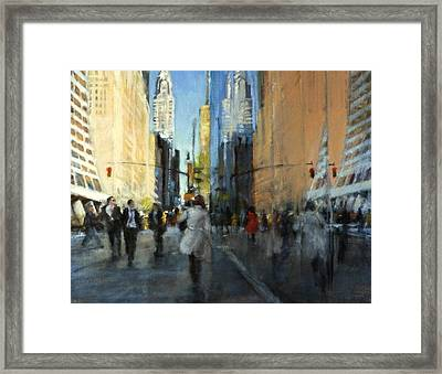 42nd Street Reflections Framed Print