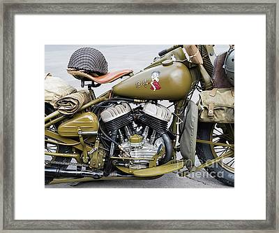 42wlc Harley Framed Print by Tim Gainey