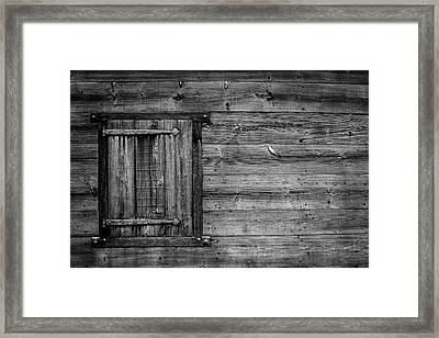 Iron On Old Wood Framed Print