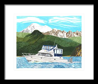 Bayliner Paintings Framed Prints