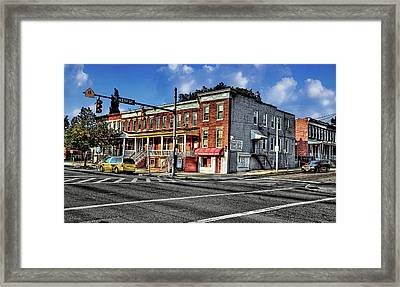 43rd Street And York Road Framed Print