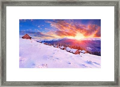 P C Landscape Framed Print