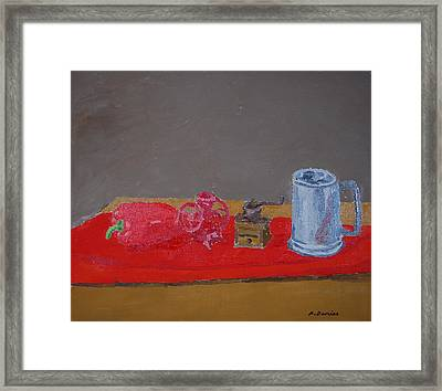 Still Life With Beer Stein, 2014 Framed Print by Peter Devries