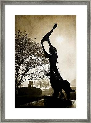 44 Years Of Waving Framed Print